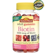Nature Made Biotin Gummy 3000 mcg 90 ct.