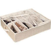 Simplify 12 Pair Under the Bed Shoe Storage Box