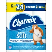 Charmin Ultra Soft Toilet Paper 12 Double Rolls, 142 Sheets Per Roll