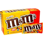 M&M Peanut King Size Bags, 24 pk.