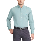 Chaps Button Down End On End Easy Care Stretch Cotton Shirt