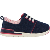 Oomphies Grade School Girls Sunny Denim Sneakers