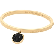 Michael Kors Cool and Classic Goldtone and Black Agate Bracelet