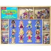 T.S. Shure Daisy Girls Our Town 8 Wooden Magnetic Dress Up Dolls