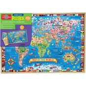T.S. Shure Map of the World 500 Pc. Wooden Puzzle
