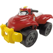 Dickie Toys Happy Rescue 11 Inch Vehicle, Fire Quad