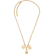 Michael Kors Hamilton Goldtone Charm Necklace