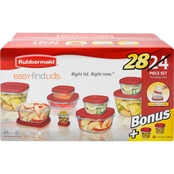 Rubbermaid Easy Find Lids Storage Container 28 pc. Bonus Set
