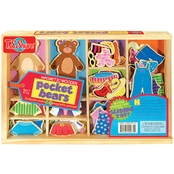 T.S. Shure Pocket Bears Wooden Magnetic Dress Ups
