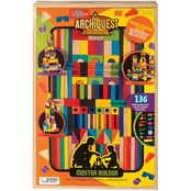 T.S. Shure ArchiQuest Master Builder Wooden Building Blocks Set, 136 pc.