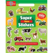 T.S. Shure Farm Super Sticker Art Book