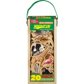 T.S. Shure Wild Animals Wooden Magnets 20 pc. MagnaFun Set
