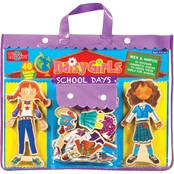 T.S. Shure Daisy Girls School Days Wooden Magnetic Dress Up Dolls