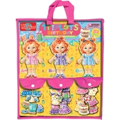 T.S. Shure Teeny Tiny Triplets Birthday Wooden Magnetic Dress Up Dolls