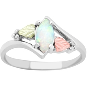 Landstrom's Black Hills Gold Sterling Silver Lab Created Opal Ring