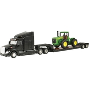John Deere Big Farm 1:32 Peterbilt Model 579 Semi with 4 Wheel Drive Tractor