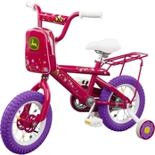 TOMY John Deere 12 Inch Girls Bicycle, Pink