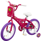 TOMY John Deere 16 Inch Girls Bicycle, Pink