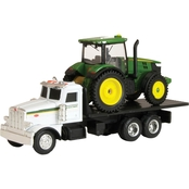 Ertl John Deere Dealer Truck with 7R Tractor