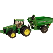 John Deere 1/64 Scale 8320R Tractor with J and M Grain Cart