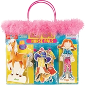 T.S. Shure Daisy Girls Horse Pals Wooden Magnetic Dress Up Set
