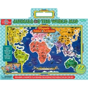 T.S. Shure Animals of the World Map Magnetic Playboard and Puzzle