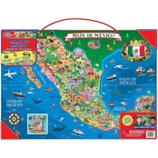 T.S. Shure Wooden Magnetic Map of Mexico Puzzle