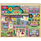 T.S. Shure ArchiQuest 35 Piece Daisy Girl Dollhouse Blocks