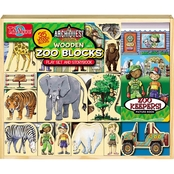 T.S. Shure ArchiQuest 35 Piece Zoo Wooden Blocks