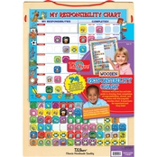 T.S. Shure 74 Piece Wooden Magnetic Responsibility Chart