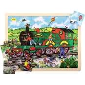 BigJigs Toys 24 pc. Train Tray Puzzle