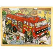 BigJigs Toys 24 Pc. Tray Puzzle, Fire Engine