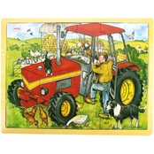 BigJigs Toys 24 Pc. Tray Puzzle, Tractor