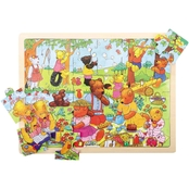 BigJigs Toys 24 Pc. Tray Puzzle, Teddy's Picnic