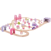 BigJigs Toys Fairy Town Train Set