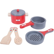 BigJigs Toys Wooden Cooking Pans