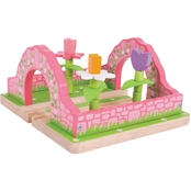 BigJigs Toys Flower Garden Wooden Train Accessory