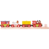 BigJigs Toys Wooden Farmyard Train