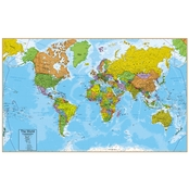 Round World Products World Wall Chart with Interactive App 32 x 51.5