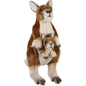 National Geographic Plush Kangaroo with Baby