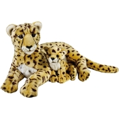 National Geographic Plush Cheetah with Baby