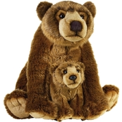 National Geographic Plush Grizzly Bear with Baby