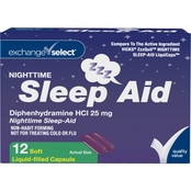 Exchange Select Nighttime Sleep Aid Liquid Capsules 12 Ct.