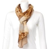 Imperial Colorblocked Snakeskin Scarf