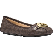 Michael Kors Logo Print Fulton Moccasin Shoes