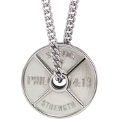 Shields of Strength Men's Stainless Steel Necklace - Phil 4:13