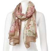 Imperial Floral Oblong Fashion Scarf