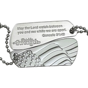 Shields of Strength Stainless Steel Genesis 31:49 Split Shield 2 Part Necklace