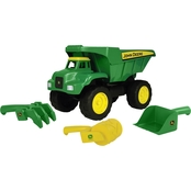 TOMY John Deere 15 in. Big Scoop Dump Truck with Sand Tools