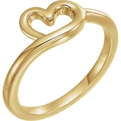 Karat Kids 14K Yellow Gold Youth Heart Ring, Size 3